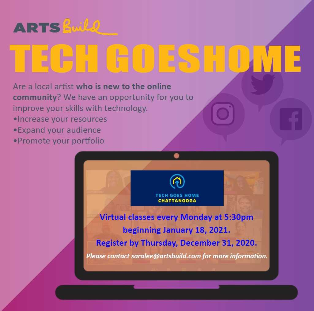Tech Goes Home for the Arts – December 2020